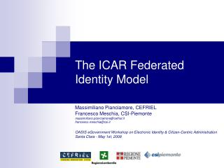 The ICAR Federated Identity Model