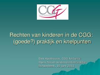 Rechten van kinderen in de CGG:  (goede?) praktijk en knelpunten