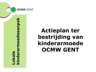 Actieplan ter bestrijding van kinderarmoede OCMW GENT