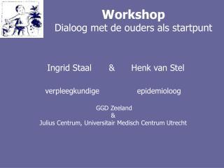 Workshop Dialoog met de ouders als startpunt
