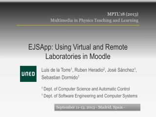 EJSApp : Using Virtual and Remote Laboratories in Moodle