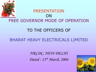 NRLDC, NEW DELHI Dated : 11 th  March, 2004