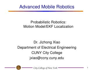Probabilistic Robotics:  Motion Model/EKF Localization