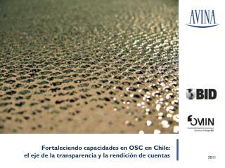 Fortaleciendo capacidades en OSC en Chile:  el eje de la transparencia y la rendición de cuentas