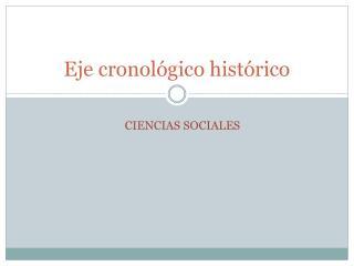 Eje cronológico histórico