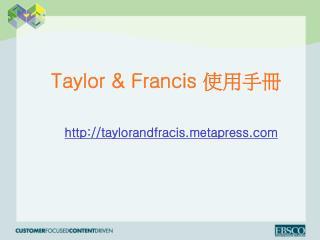 Taylor & Francis  ????
