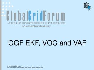 GGF EKF, VOC and VAF