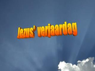 Jezus'  verjaardag