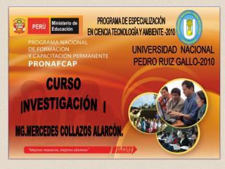 CURSO INVESTIGACIÓN  I