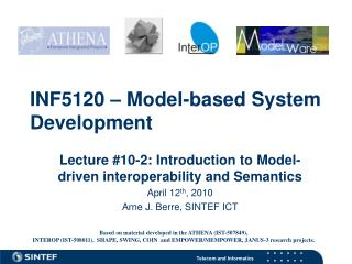 INF5120 – Model-based System Development