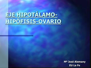 EJE HIPOT�LAMO-HIP�FISIS-OVARIO