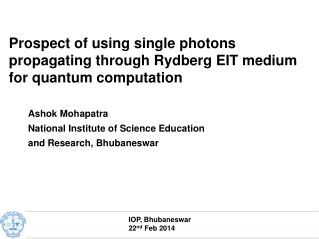 Prospect of using single photons propagating through Rydberg EIT medium for quantum computation