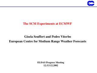 The SCM Experiments at ECMWF