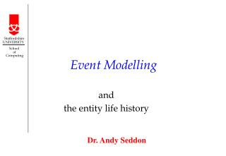 Event Modelling