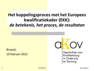 Brussel,  10 februari 2012