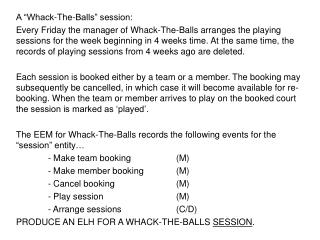 """A """"Whack-The-Balls"""" session:"""