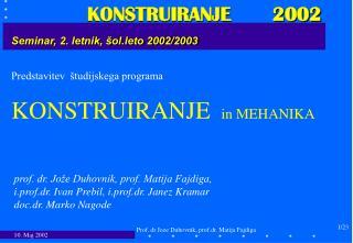 Seminar, 2. letnik, šol.leto 2002/2003