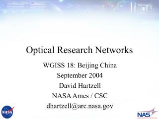 Optical Research Networks