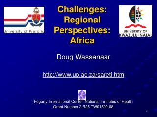Challenges: Regional Perspectives: Africa