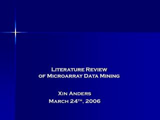 Literature Review of Microarray Data Mining