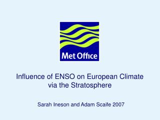 Influence of ENSO on European Climate via the Stratosphere