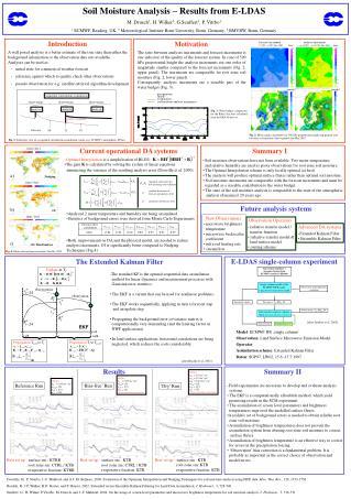 Soil Moisture Analysis – Results from E-LDAS