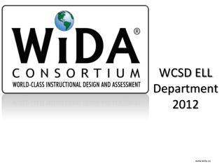 WCSD ELL Department 2012