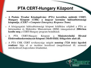 PTA CERT-Hungary Központ