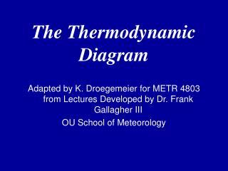 The Thermodynamic Diagram