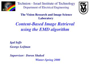 Content-Based Image Retrieval  using the EMD algorithm