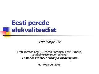 Eesti perede elukvaliteedist