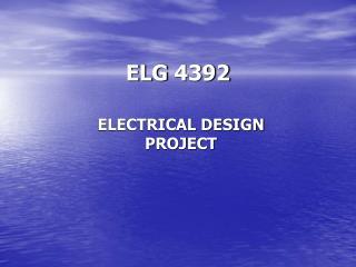 ELG 4392