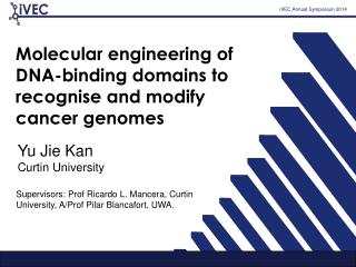 Molecular engineering of DNA-binding domains to recognise and modify cancer genomes