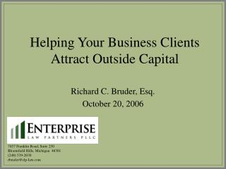 Helping Your Business Clients Attract Outside Capital