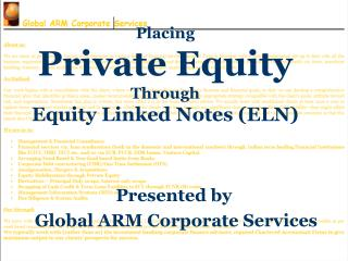Placing Private Equity Through Equity Linked Notes (ELN)