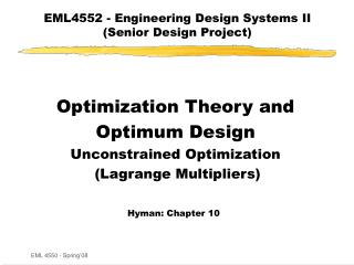 EML4552 - Engineering Design Systems II (Senior Design Project)
