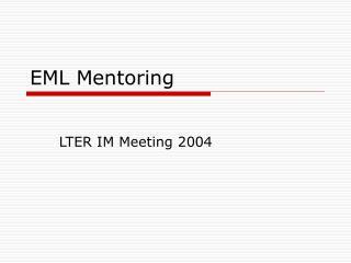 EML Mentoring