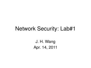 Network Security: Lab#1