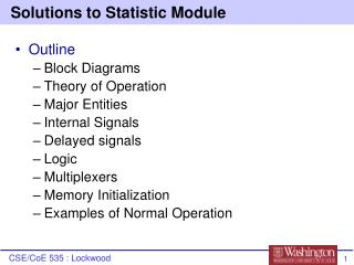 Solutions to Statistic Module