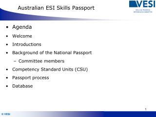 Australian ESI Skills Passport