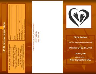 CPEN Review  (Certified Pediatric Emergency Nursing) October 24 & 25, 2013 Dover, NH