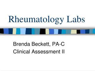 Rheumatology Labs