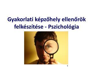 Gyakorlati képzőhely ellenőrök felkészítése - Pszichológia