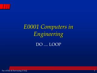 E0001 Computers in Engineering