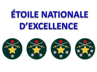 ÉTOILE NATIONALE  D'EXCELLENCE