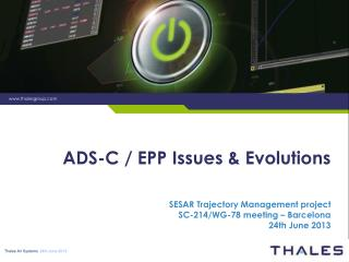ADS-C / EPP Issues & Evolutions
