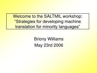 Briony Williams May 23rd 2006
