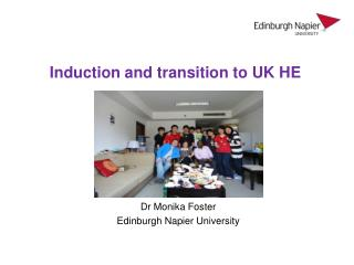 Induction and transition to UK HE