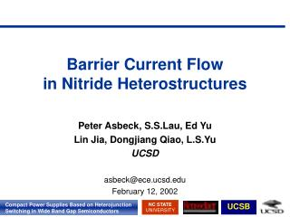 Barrier Current Flow in Nitride Heterostructures
