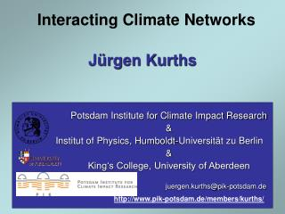 Interacting Climate Networks